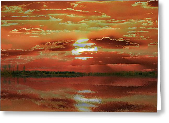 Greeting Card featuring the photograph Sunset Lake by Bill Swartwout Fine Art Photography