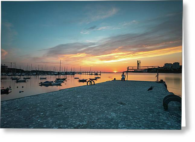 Greeting Card featuring the photograph Sunset Looker by Bruno Rosa