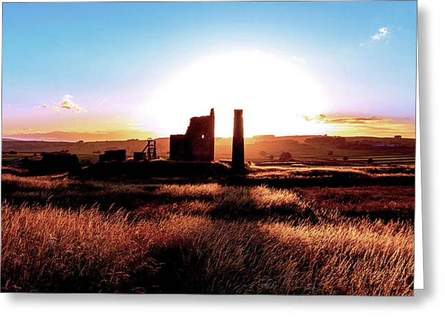 Sunset. Magpie Mine. Greeting Card