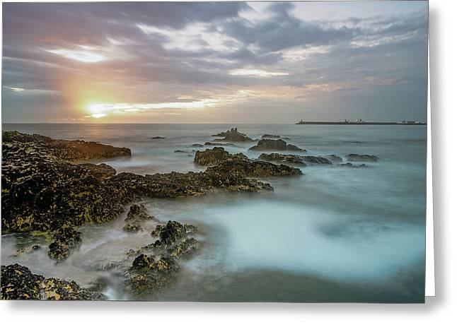 Greeting Card featuring the photograph Sunset Matosinhos by Bruno Rosa