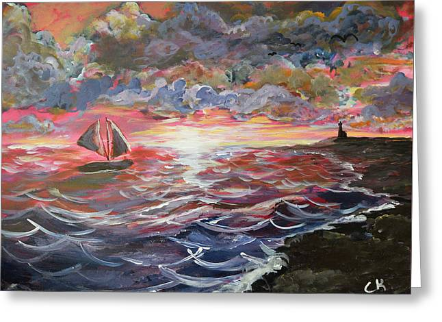Sunset Of The Sea Greeting Card