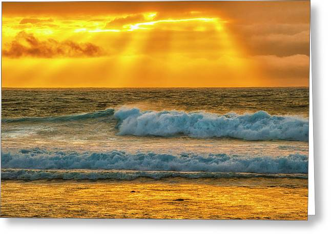 Sunset On A Rainy Day Greeting Card by Fernando Margolles