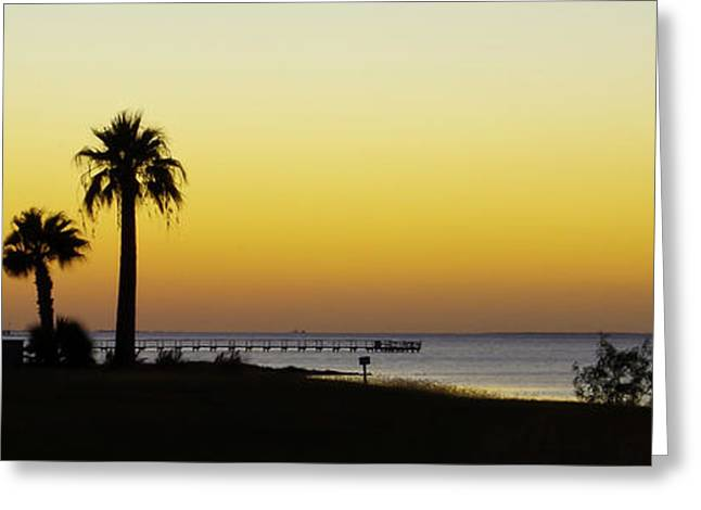 Sunset On Copano Bay, Texas Greeting Card