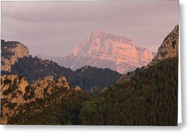 Greeting Card featuring the photograph Sunset On Pena Montanesa by Stephen Taylor