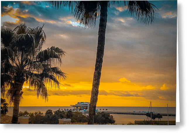 Sunset On The Island Greeting Card