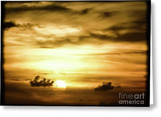 Sunset On The Pacific Ocean Greeting Card