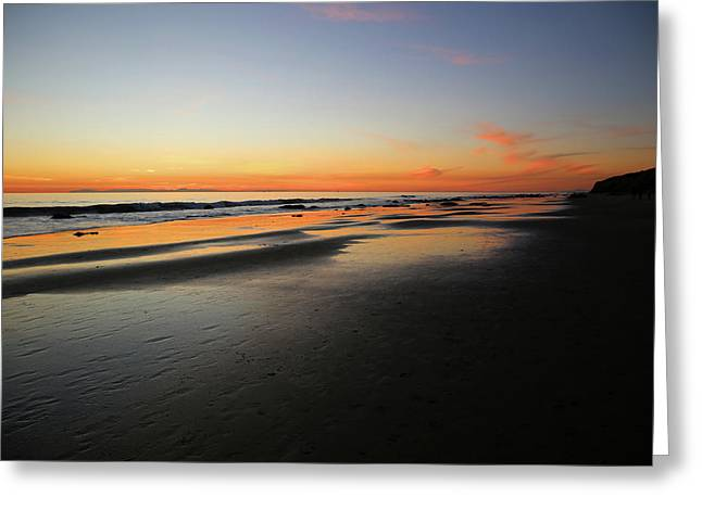 Sunset Over Avalon Greeting Card by Robin Street-Morris