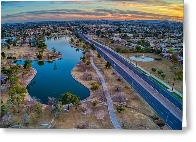 Sunset Over Chaparral  Greeting Card