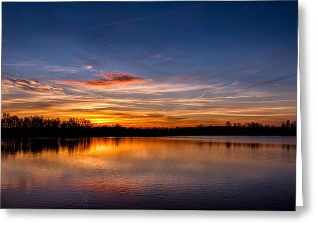 Sunset Over Laupheim Quarry Greeting Card