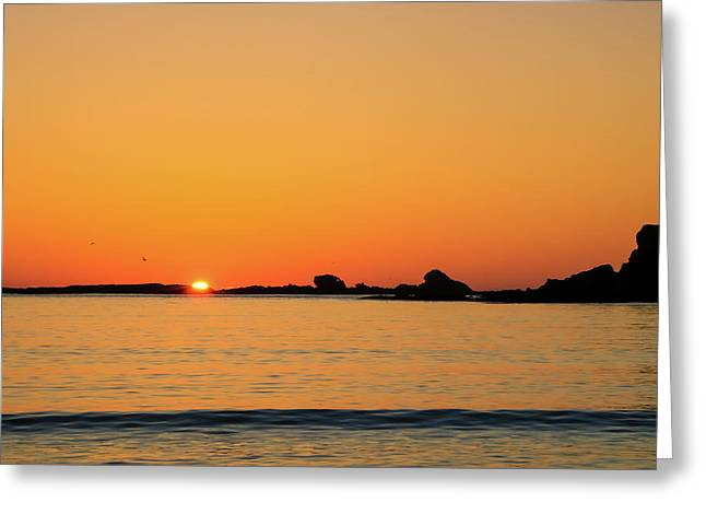 Sunset Over Sunset Bay, Oregon 4 Greeting Card