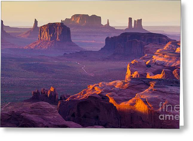 Sunset Over The Hunts Mesa Greeting Card