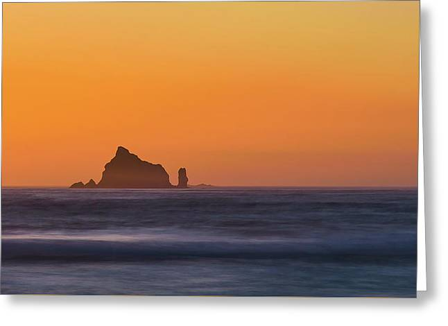 Sunset Over The Pacific Greeting Card