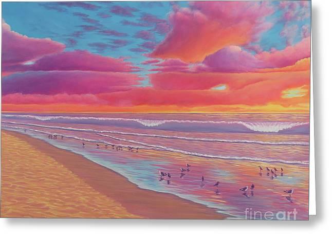 Sunset Shore Greeting Card
