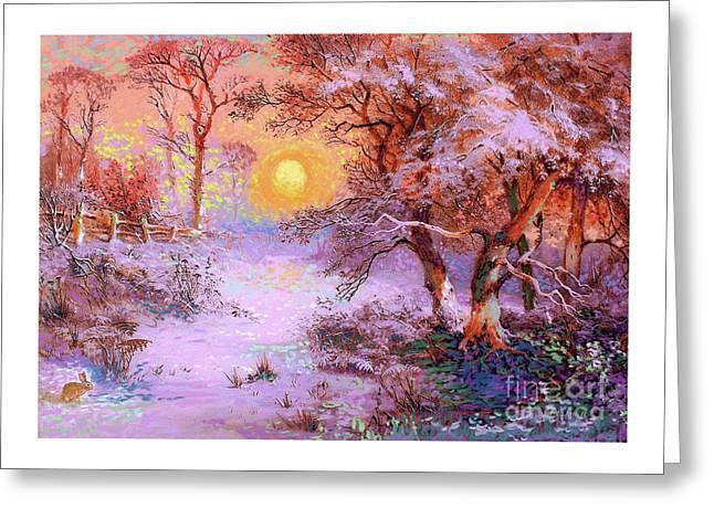 Sunset Snow Greeting Card