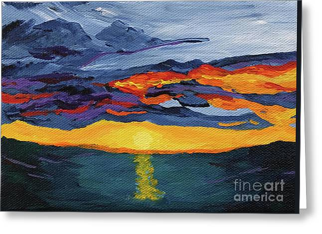 Sunset Streak Greeting Card
