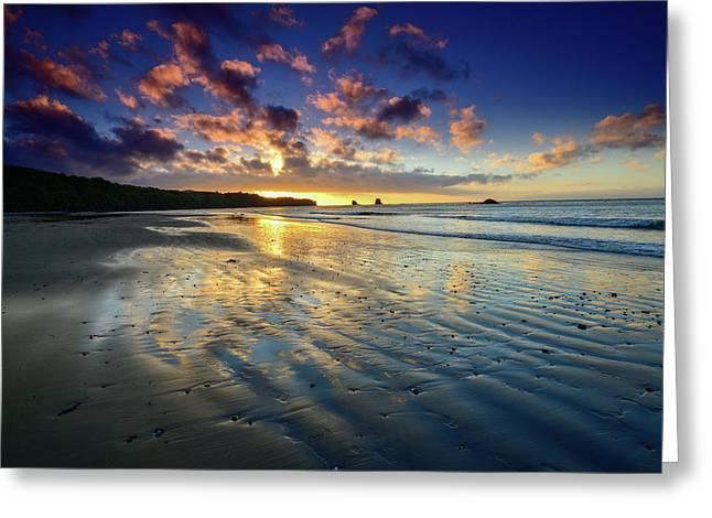 Sunset Surprise At Bullman Beach Greeting Card