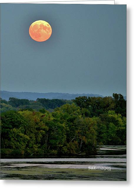 Supermoon On The Mississippi Greeting Card