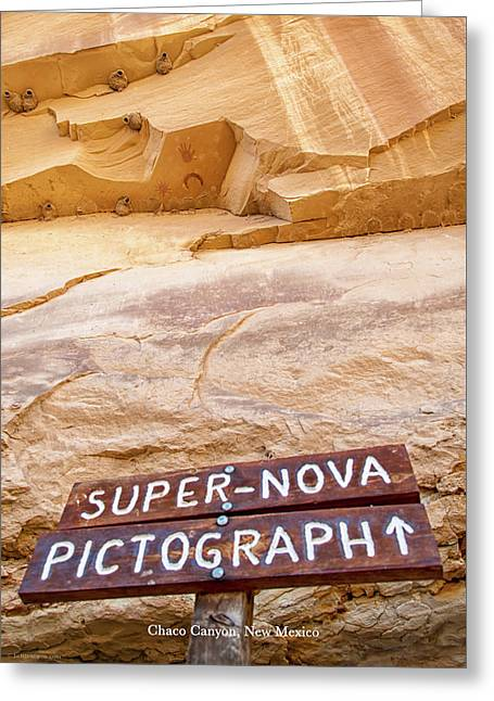 Greeting Card featuring the photograph Supernova Pictograph by Britt Runyon