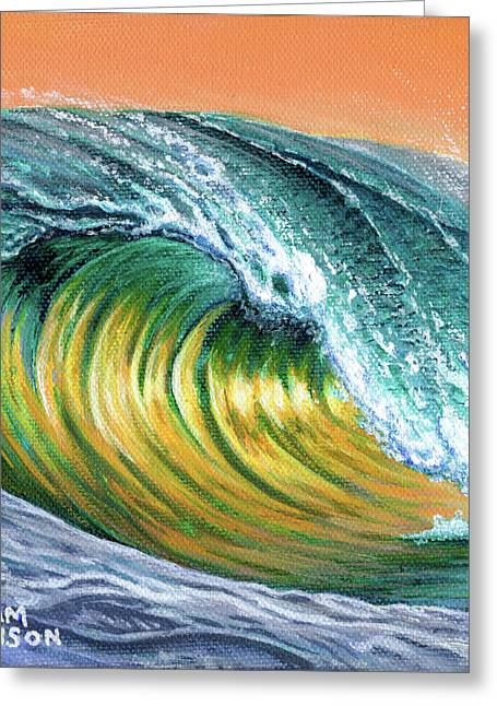 Surf Into The Sunset Greeting Card