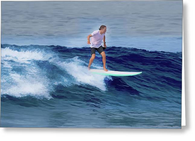 Surfing Andy Greeting Card