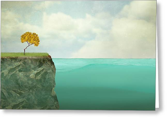 Surreal Illustration Of A Small Tree Greeting Card