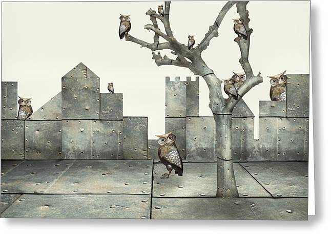 Surreal Illustration Of Many Small Greeting Card