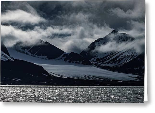 Svalbard Mountains Greeting Card