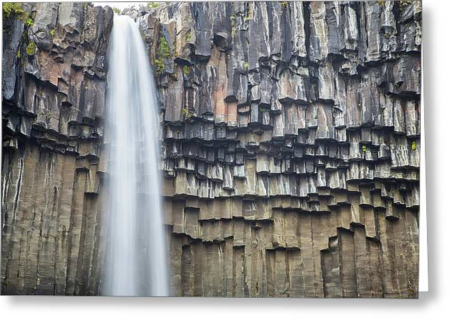 Greeting Card featuring the photograph Svartifoss Portrait Iceland by Nathan Bush