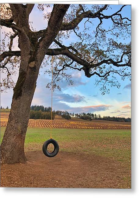 Swing In Tree Greeting Card
