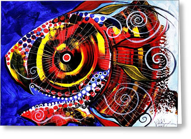 Swollen, Red Cavity Fish Greeting Card