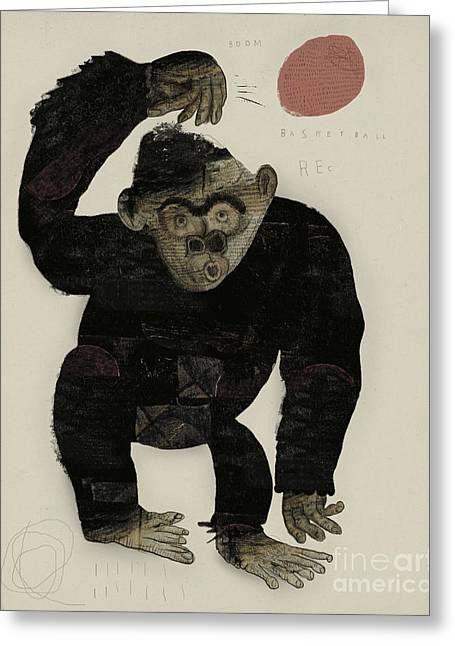 Symbolic Image Of A Monkey That Throws Greeting Card