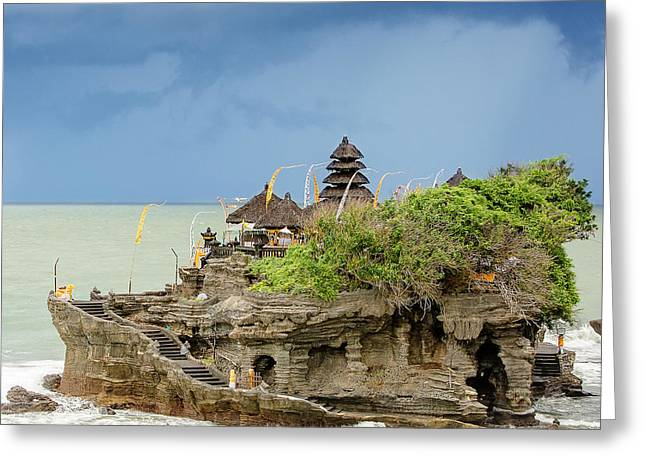 Ta-nah Lot Temple, Bali, Indonesia Greeting Card