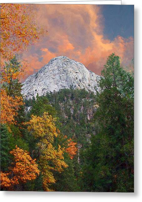 Tahquitz Peak - Lily Rock Painted Version Greeting Card