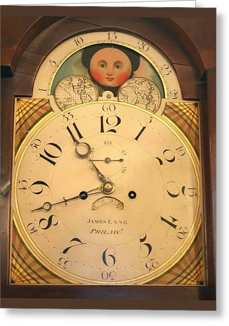 Tall Case Clock Face, Around 1816 Greeting Card