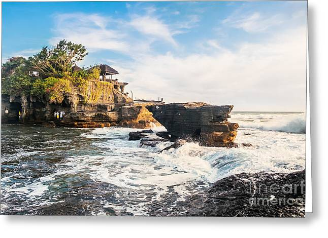 Tanah Lot Water Temple In Bali Greeting Card