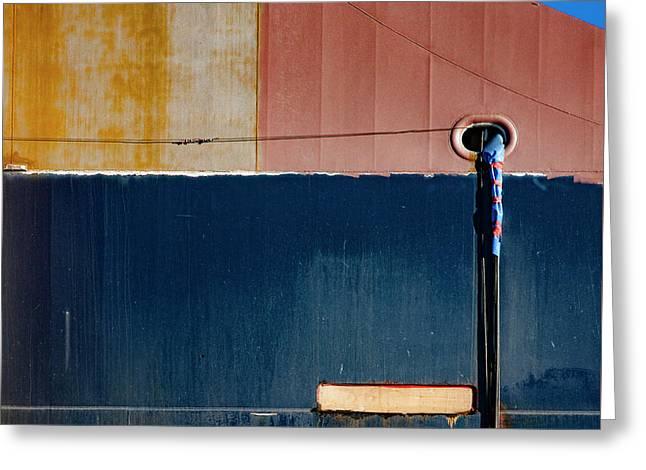Tanker In Dry Dock Greeting Card