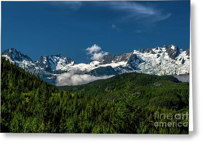 Greeting Card featuring the photograph Tantalus Mountain Range by Jon Burch Photography