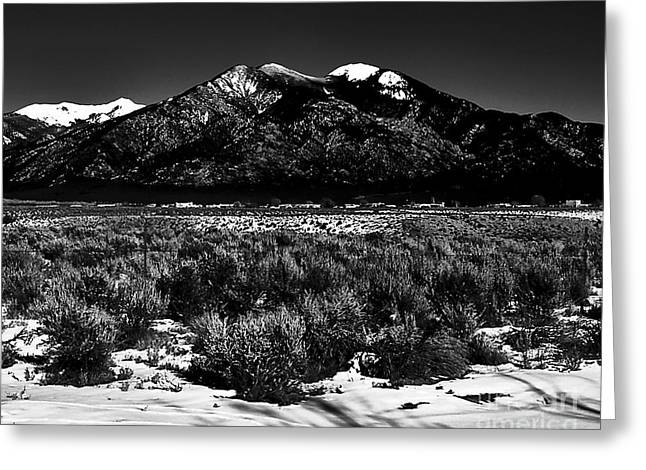 Taos Mountain In The Zone Greeting Card