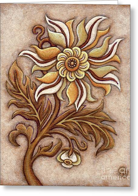 Tapestry Flower 1 Greeting Card