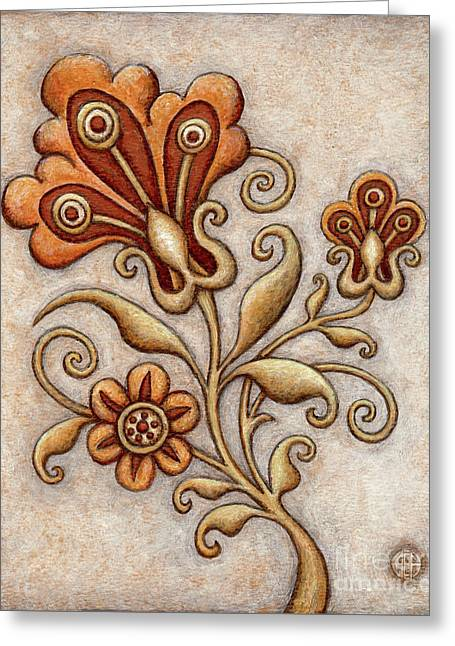 Tapestry Flower 3 Greeting Card