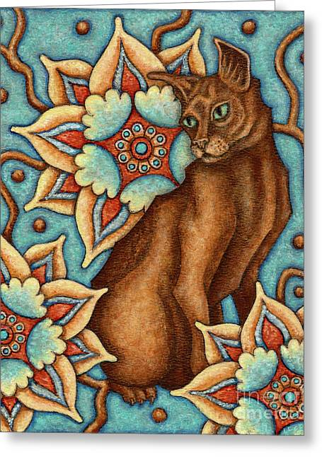 Tapestry Cat Greeting Card