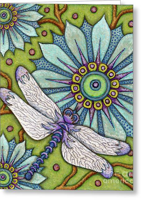 Tapestry Dragonfly Greeting Card