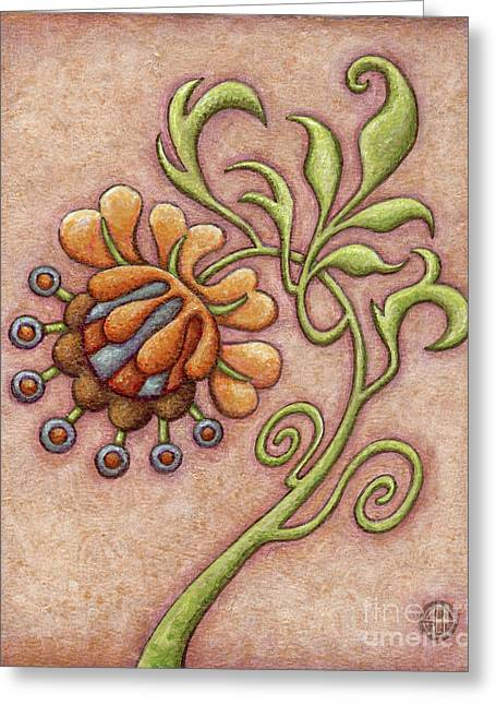 Tapestry Flower 10 Greeting Card