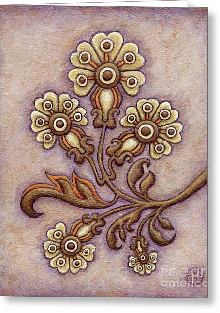 Tapestry Flower 4 Greeting Card