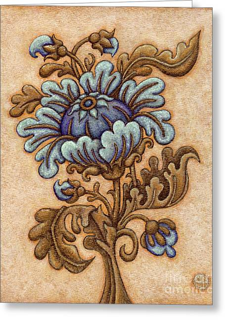 Tapestry Flower 5 Greeting Card