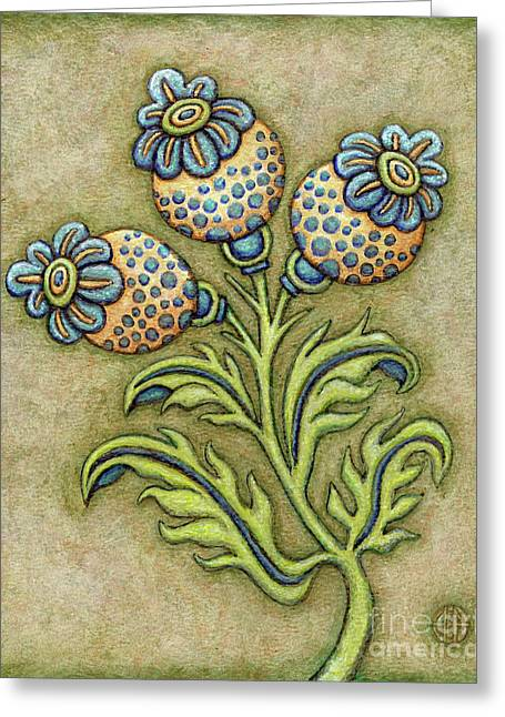 Tapestry Flower 6 Greeting Card