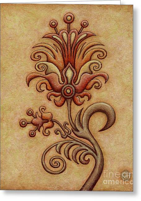 Tapestry Flower 7 Greeting Card
