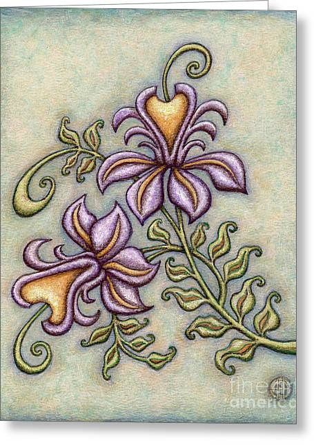 Tapestry Flower 8 Greeting Card