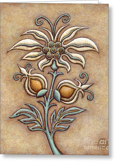 Tapestry Flower 9 Greeting Card