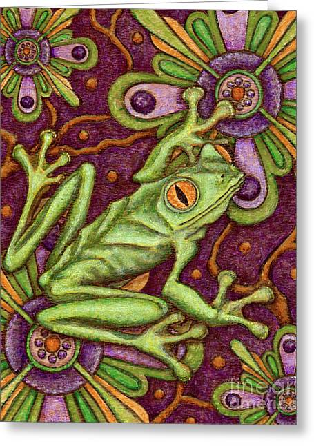 Tapestry Frog Greeting Card